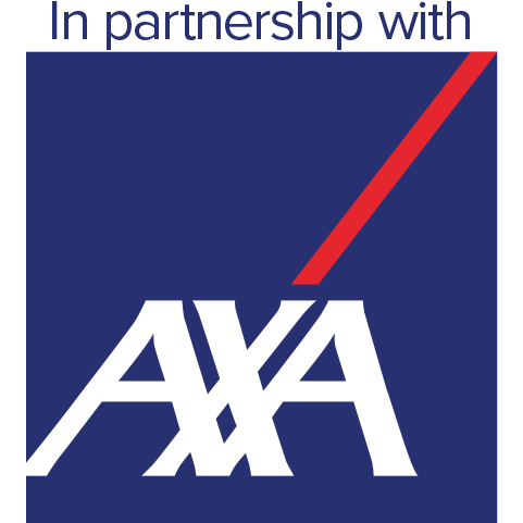 In partnership with Axa - No 1 global insurance brand