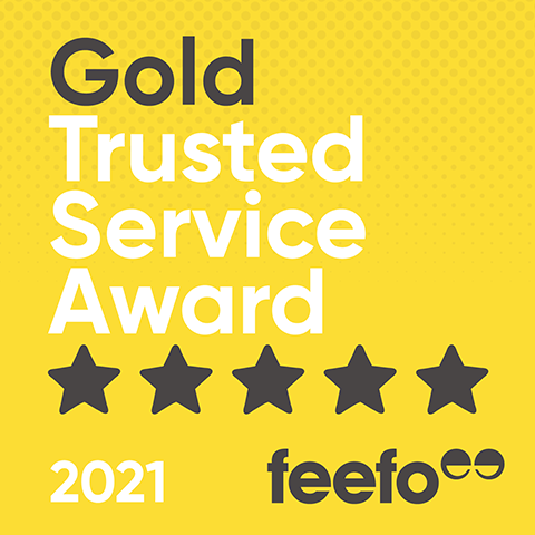 Feefo Gold Trusted Service Winner 2020